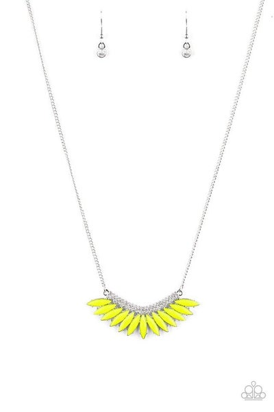 Paparazzi Necklace ~ Extra Extravaganza - Yellow
