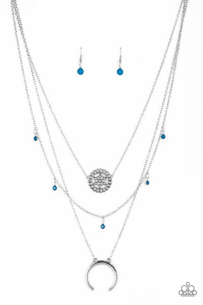 Paparazzi Necklace ~ Lunar Lotus - Blue