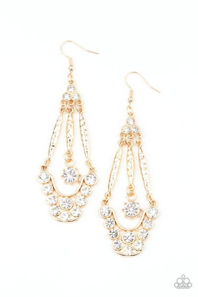 Paparazzi Earring ~ High-Ranking Radiance - Gold