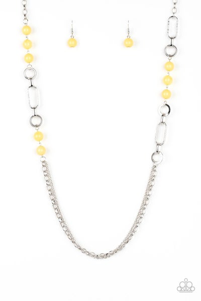 Paparazzi Necklace ~ CACHE Me Out - Yellow