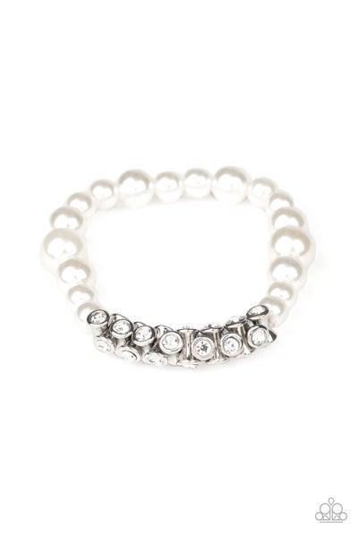Paparazzi Bracelet ~ Traffic-Stopping Sparkle - White