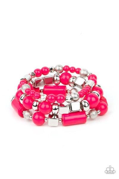 Paparazzi Bracelet PREORDER ~ Perfectly Prismatic - Pink