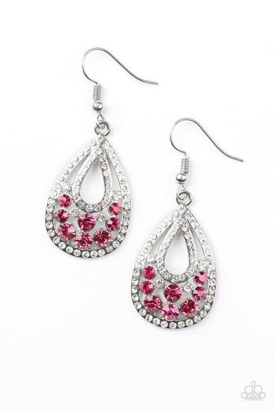 Paparazzi Earring ~ Sparkling Stardom - Pink