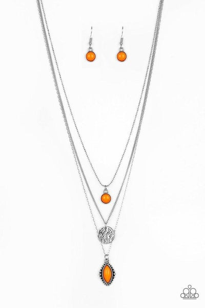 Paparazzi Necklace ~ Tide Drifter - Orange