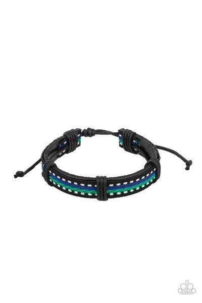 Paparazzi Bracelet ~ Forging a Trail - Blue