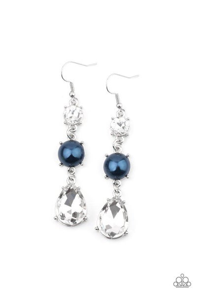 Paparazzi Earring ~ Unpredictable Shimmer - Blue