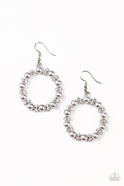 Paparazzi Earring ~ Symphony Sparkle - Silver