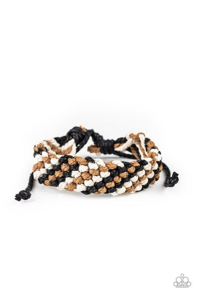 Paparazzi Bracelet ~ WEAVE No Trace - Black