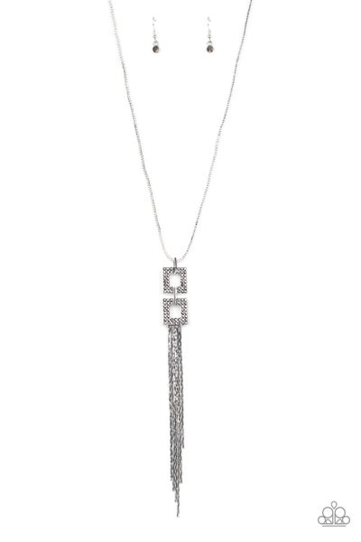 Paparazzi Necklace ~ Times Square Stunner - Silver