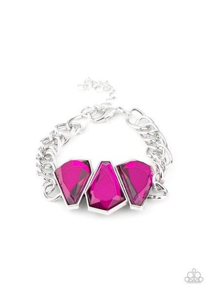 Paparazzi Bracelet ~ Raw Radiance - Pink