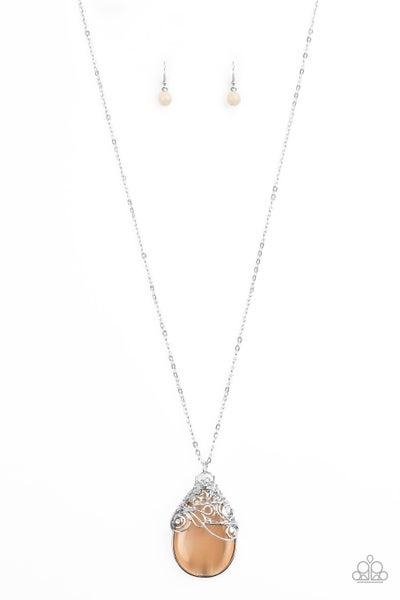 Paparazzi Necklace ~ Tangled Gardens - Orange