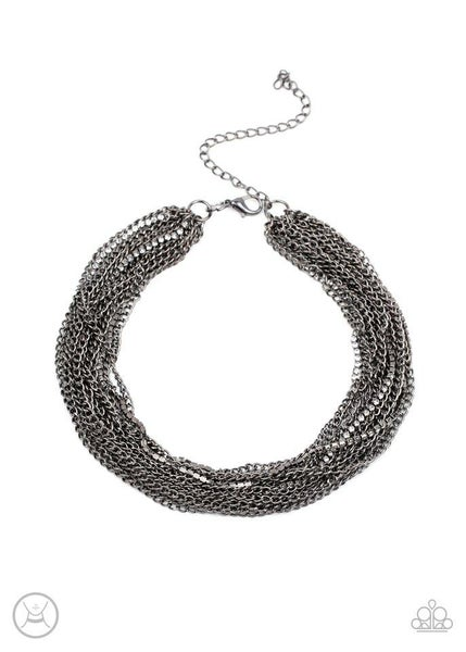 Paparazzi Necklace ~ Catch You LAYER! - Black