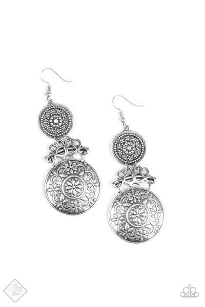 Paparazzi Earring Fashion Fix Aug2020 ~ Garden Adventure - Silver