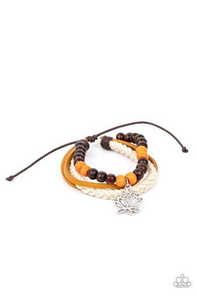 Paparazzi Bracelet ~ Lotus Beach - Orange