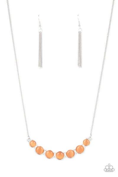 Paparazzi Necklace ~ Serenely Scalloped - Orange