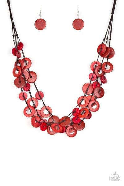 Paparazzi Necklace ~ Wonderfully Walla Walla - Red