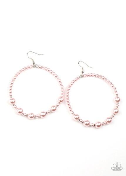 Paparazzi Earring ~ Boss Posh - Pink