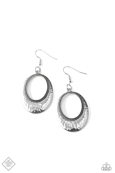 Paparazzi Earrings Fashion Fix Dec 2020 ~ Tempest Texture - Silver