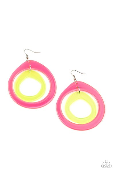 Paparazzi Earring ~ Show Your True NEONS - Multi