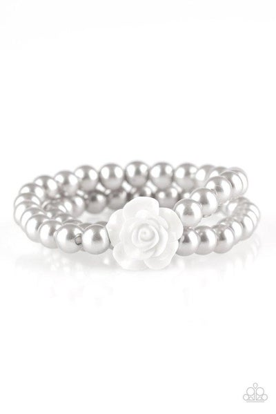 Paparazzi Bracelet ~ Posh and Posy - Silver