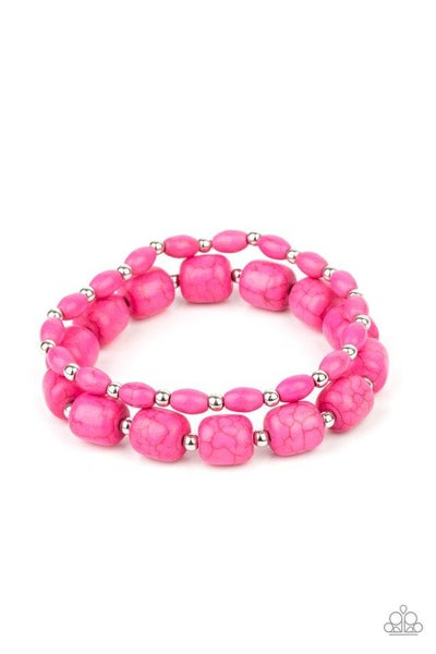 Paparazzi Bracelet PREORDER ~ Colorfully Country - Pink