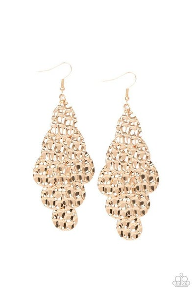 Paparazzi Earring ~ Instant Incandescence - Gold