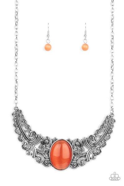 Paparazzi Necklace PREORDER ~ Celestial Eden - Orange