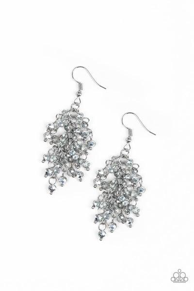 Paparazzi Earring ~ A Taste Of Twilight - Silver