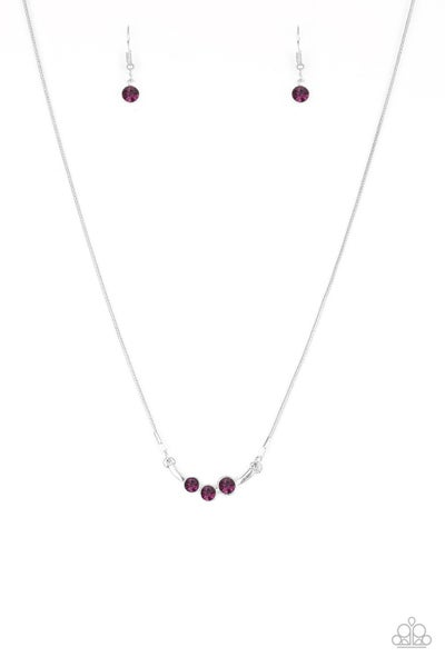 Paparazzi Necklace ~ Sparkling Stargazer - Purple
