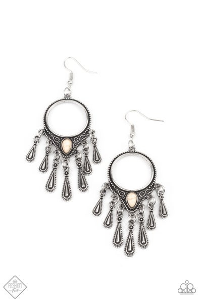 Paparazzi Earring Fashion Fix Jan 2021~ Ranger Rhythm - White