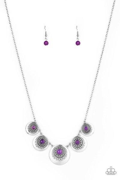Paparazzi Necklace ~ Solar Beam - Purple