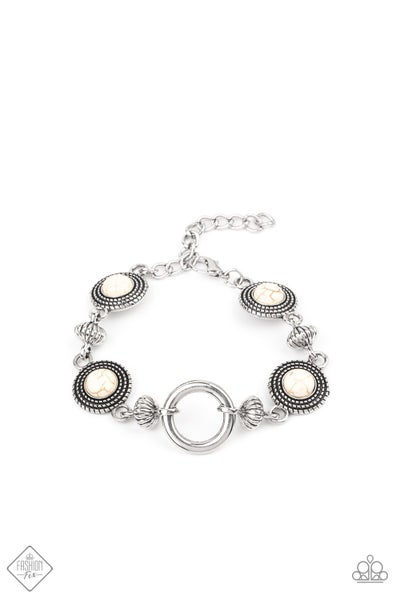 Paparazzi Bracelet Fashion Fix Jan 2021 ~ Musical Mountains - White