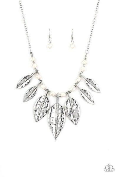 Paparazzi Necklace ~ Highland Harvester - White