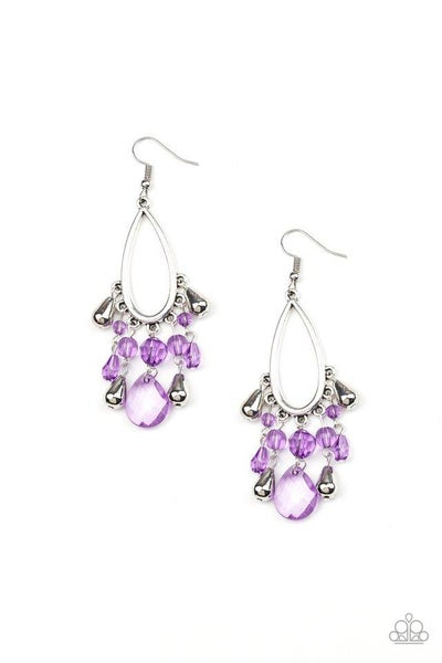 Paparazzi Earring ~ Summer Catch - Purple
