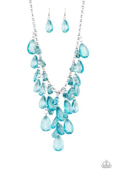 Paparazzi Necklace ~ Irresistible Iridescence - Blue