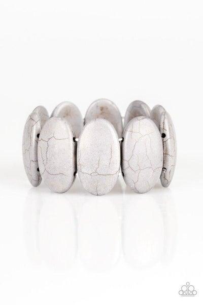 Paparazzi Bracelet ~ Dramatically Nomadic - Silver