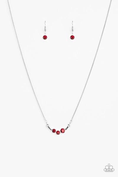 Paparazzi Necklace ~ Sparkling Stargazer - Red