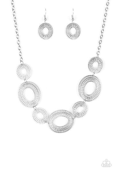 Paparazzi Necklace ~ Basically Baltic - Silver
