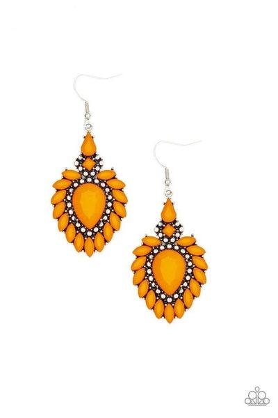 Paparazzi Earring ~ The LIONESS Den - Orange