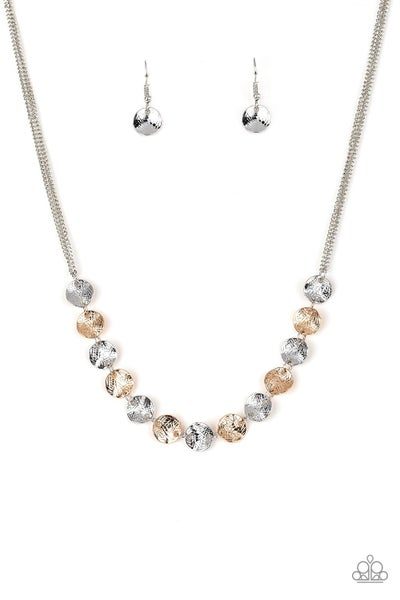Paparazzi Necklace EMP Exclusive ~ Simple Sheen - Silver