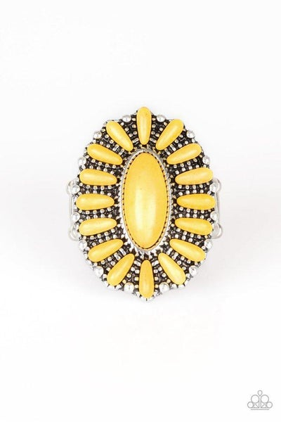 Paparazzi Ring ~ Cactus Cabana - Yellow