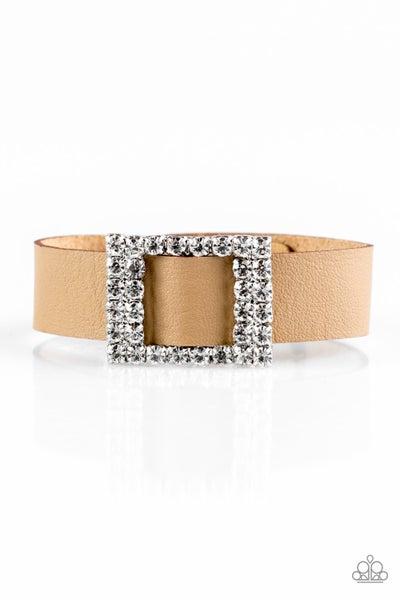 Paparazzi Bracelet ~ Diamond Diva - Brown