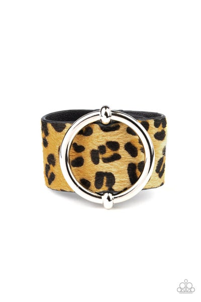 Paparazzi Bracelet ~ Asking FUR Trouble - Yellow