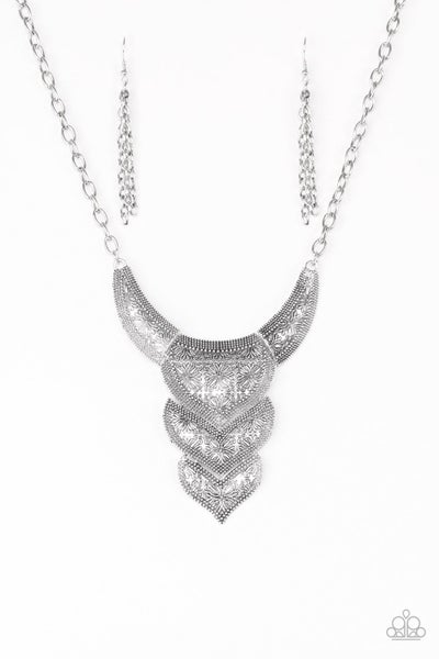 Paparazzi Necklace ~ Texas Temptress - Silver