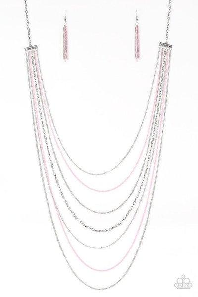 Paparazzi Necklace ~ Radical Rainbows - Pink