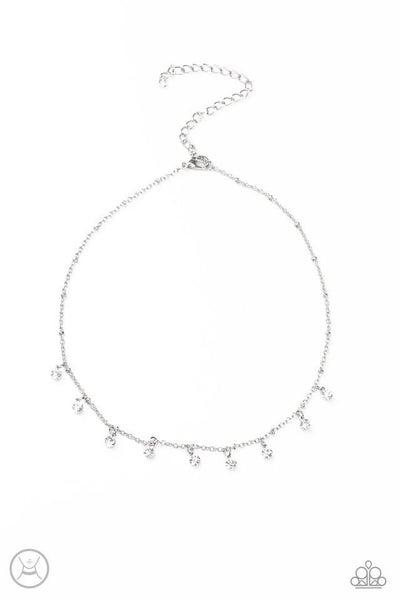 Paparazzi Necklace ~ Dainty Diva - White