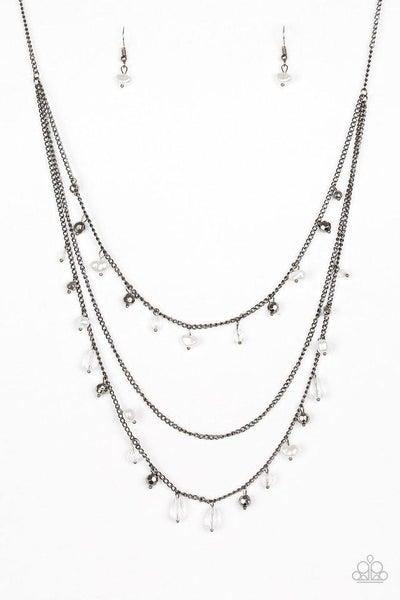 Paparazzi Necklace - Pebble Beach Beauty - Black