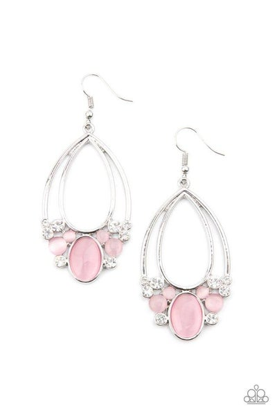 Paparazzi Earring ~ Look Into My Crystal Ball - Pink