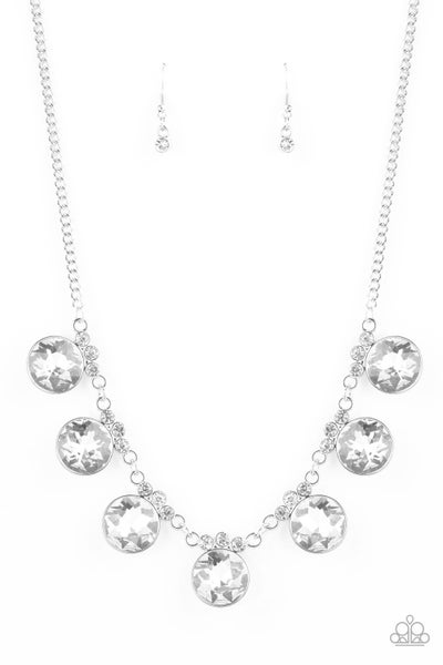 Paparazzi Necklace ~ GLOW-Getter Glamour - White