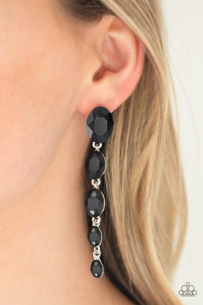 Paparazzi Earring ~ Red Carpet Radiance - Black